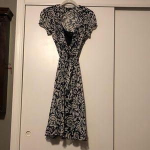 Dresses & Skirts - JBS Black and White Floral Design Dress